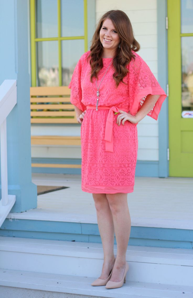 Modest summer dress-Nightchayde. Fashion blog, daily style, coral dress outfit, budget fashion