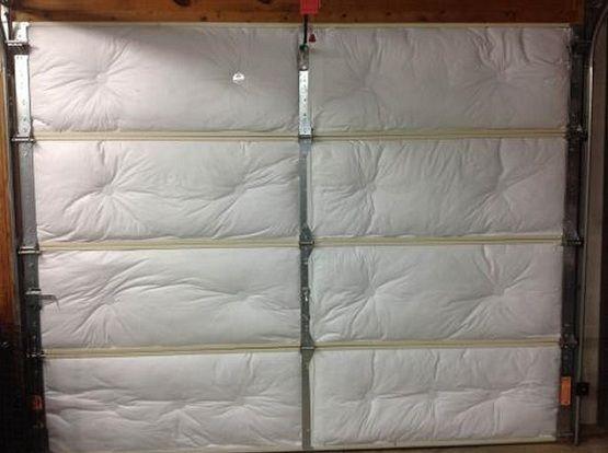 DIY Garage door insulation panels with batt insulation