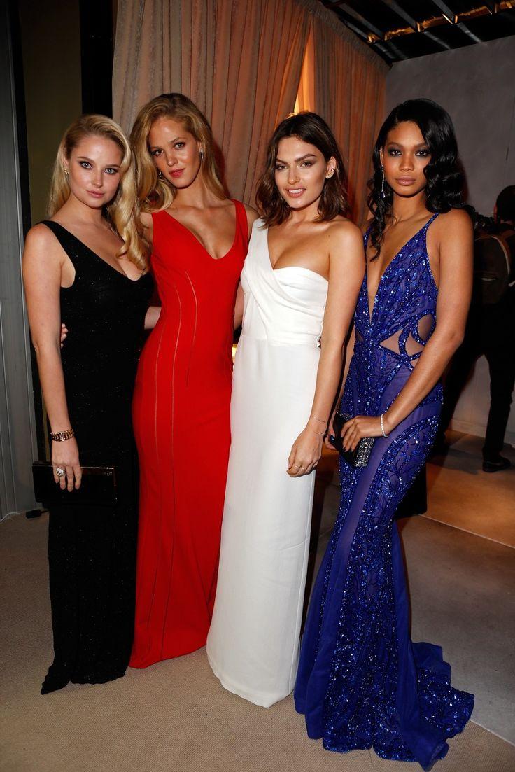 Genevieve Morton, Erin Heatherton, Alyssa Miller and Chanel Iman - Vanity Fair Oscar Party 2014