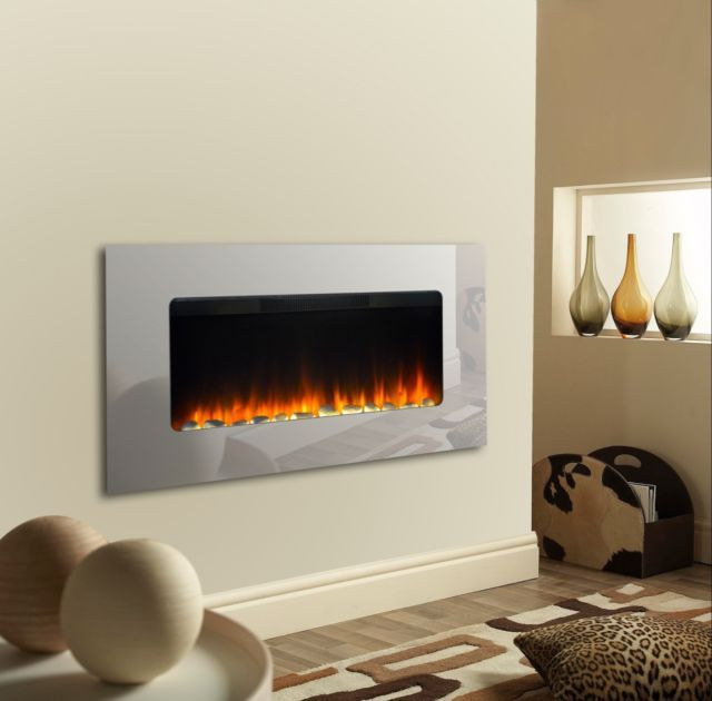 Mirrored Electric Wall Fire Electric Wall Fires Wall Fires Fireplace Mirror