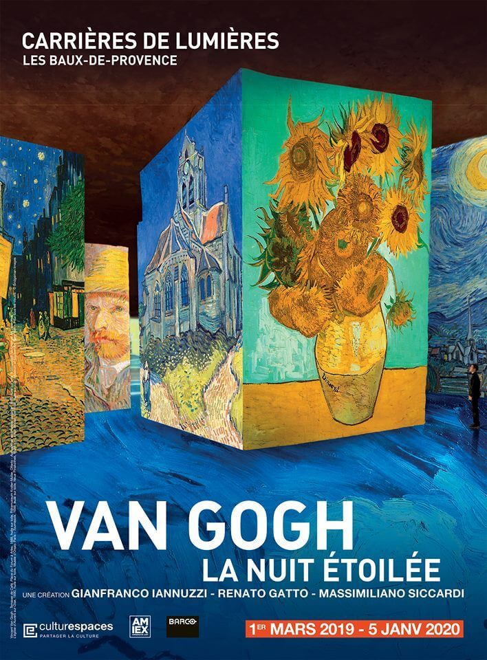Carrieres De Lumieres Now In Paris And Provence Perfectly Provence Starry Night Van Gogh Van Gogh Exhibition Van Gogh