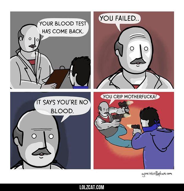 Blood test#funny #lol #lolzcat