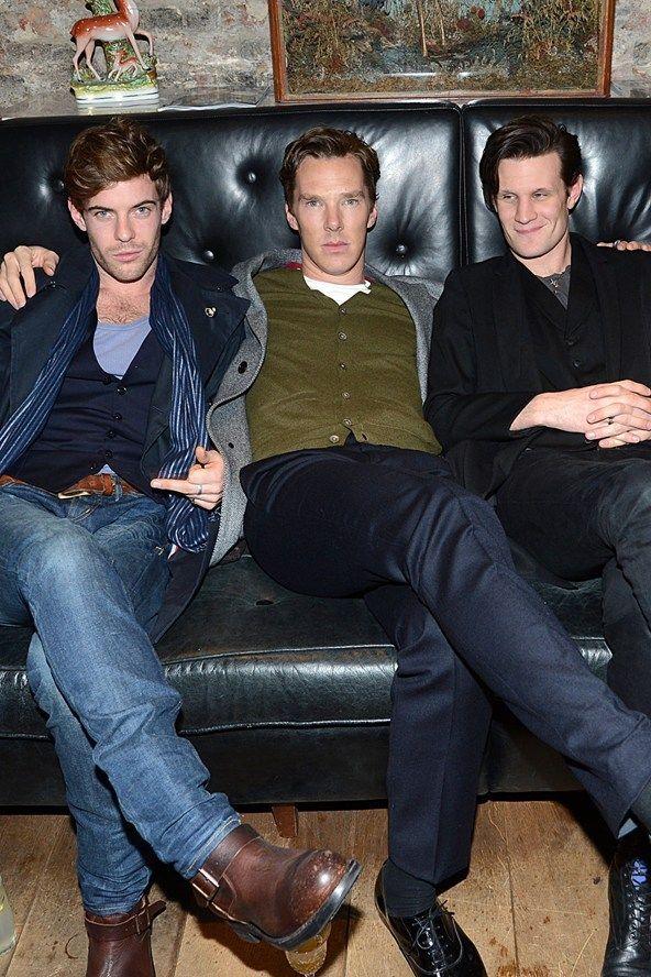 Treadaway, Cumberbatch & Smith Men's Fashion Week - celebrity pics