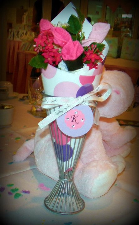 Baby Sock Bouquet Must try centerpiece