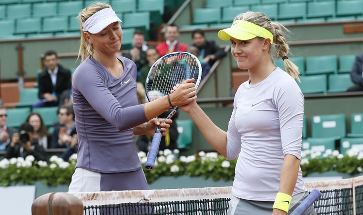 Roland-Garros · Eugenie Bouchard contre Maria Sharapova| Galeries dimages | Sports | Canoe.ca