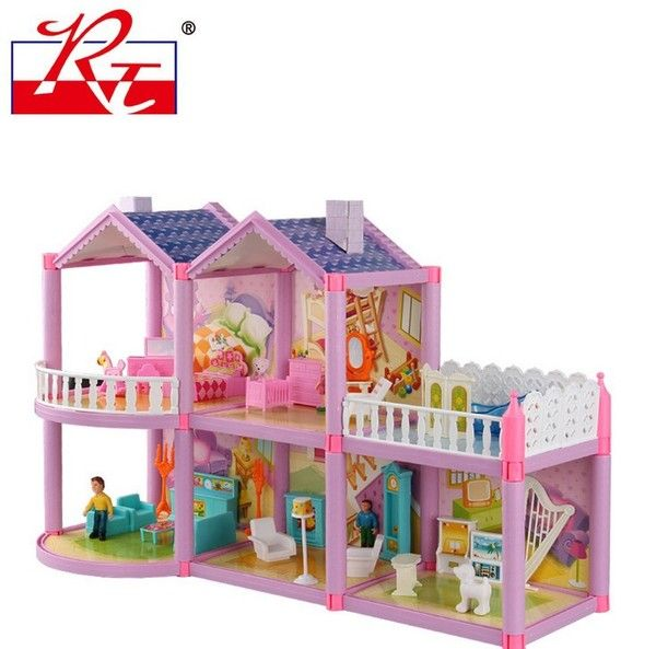 Барби костюм большого подарка вилл замок дом играть дома детские игрушки девочка принцесса сладкий дом