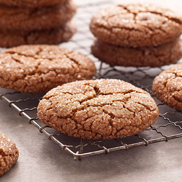 Giant Molasses Cookies Recipe -My family always requests these soft and deliciously chewy cookies. The cookies are also great for shipping as holiday gifts or to troops overseas. —Kristine Chayes, Smithtown, New York