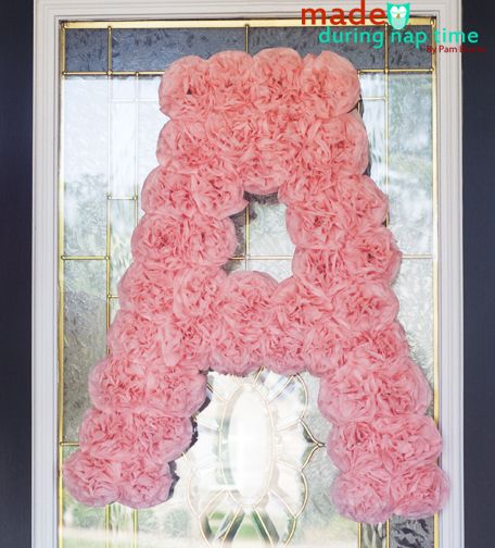 "wouldn't a hot pink ""G"" look great on the door for the birthday party?  this is extra if i get around to making it."