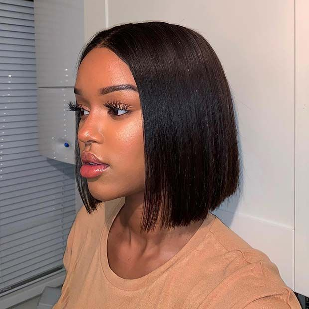 23 Popular Bob Weave Hairstyles For Black Women Page 2 Of 2 Stayglam Front Lace Wigs Human Hair Thick Hair Styles Blonde Bob Hairstyles