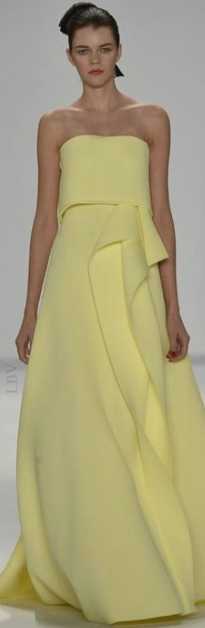Carolina Herrera RTW Spring 2015 jaglady This is the dress Jenna Dewan Tatum wore the 2015 Golden Globes,