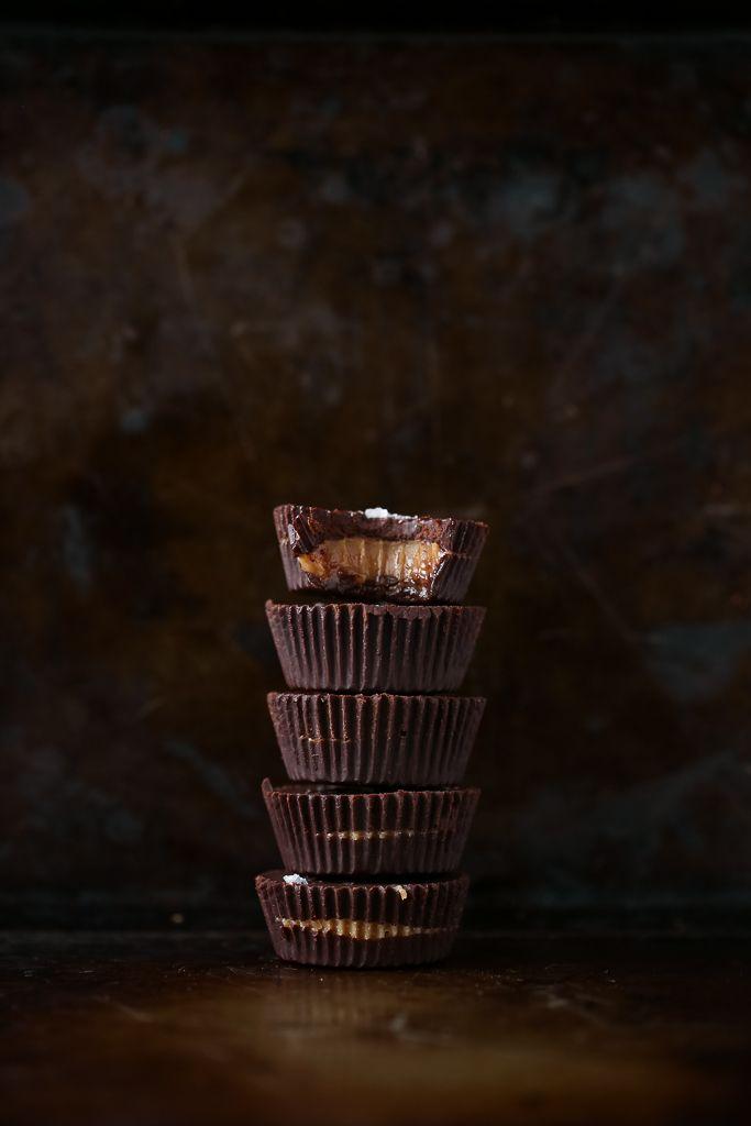 Jumbo Peanut Butter Caramel Chocolate Cups (vegan)
