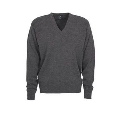Mens L/S V Neck Pullover Min 25 - 50/50 Wool Acrylic, Design Easy Fit, 12 Gauge Fabric. http://www.promosxchange.com.au/mens-neck-pullover/p-11073.html