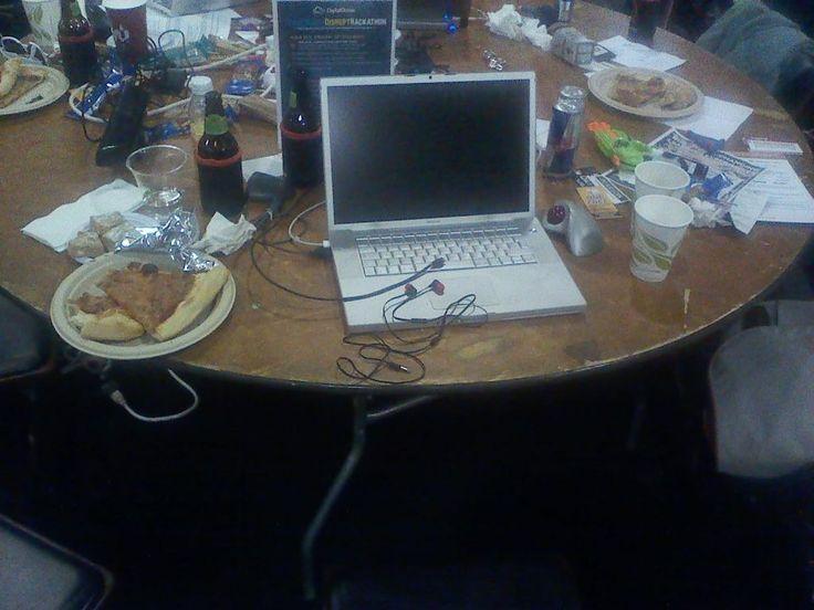 #hackathon mess...at TechCrunch #DisruptSF2014 for Metavallon's startups in San Francisco http://www.metavallon.org/metavallonus2014-the-silicon-valley-gateway-to-startup-growth/