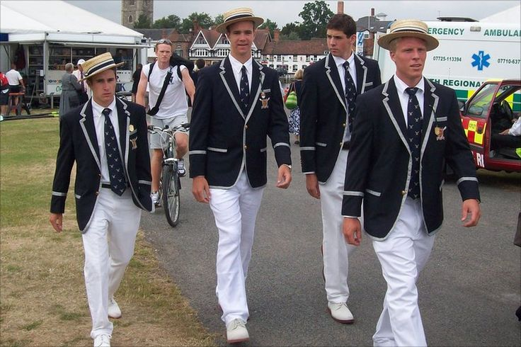 Men in blazers at Henley Regatta