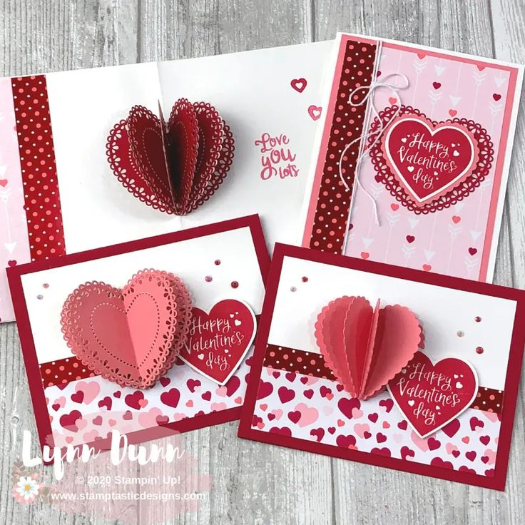 3d heart pop up cards for valentines day lynn dunn