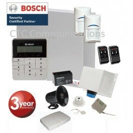 Bosch Solution 3000 Alarm System with 2 x Wireless Detectors RFPR-11+ Text Code…
