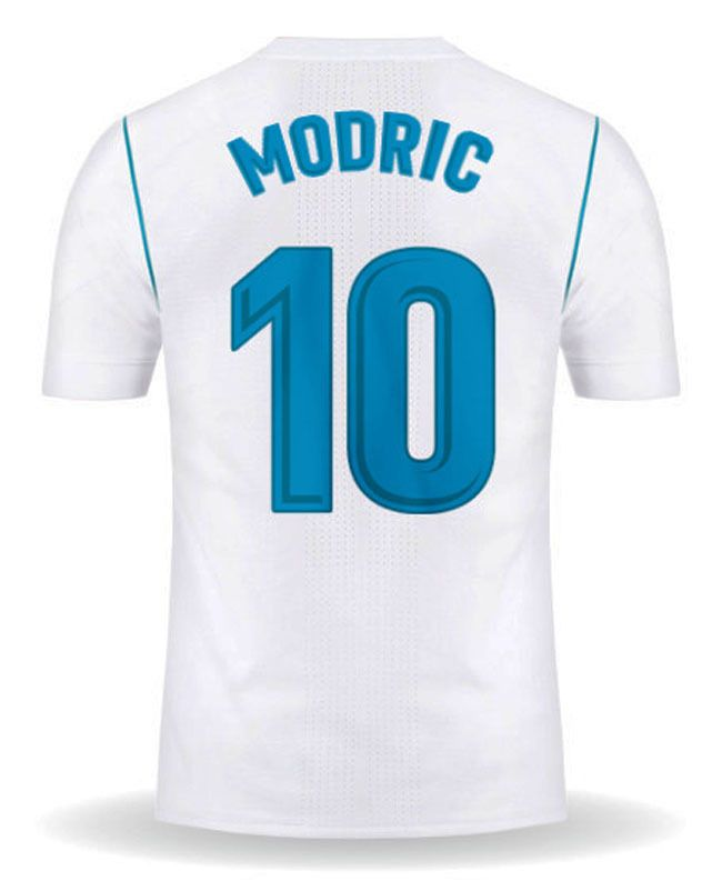 3ef35d813 All  New  Luka  MODRIC  10  Real  Madrid  Home  17 18  Men  Soccer  Jersey   +  Full  Patch