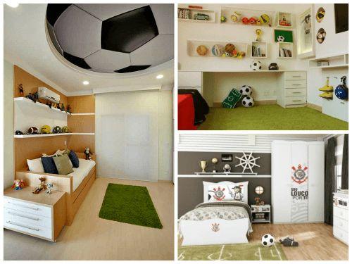 Decoração de quarto de menino - Tema Futebol