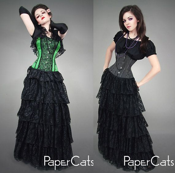 need that skirt in my life :3 Long lace SKIRT gothic wedding black