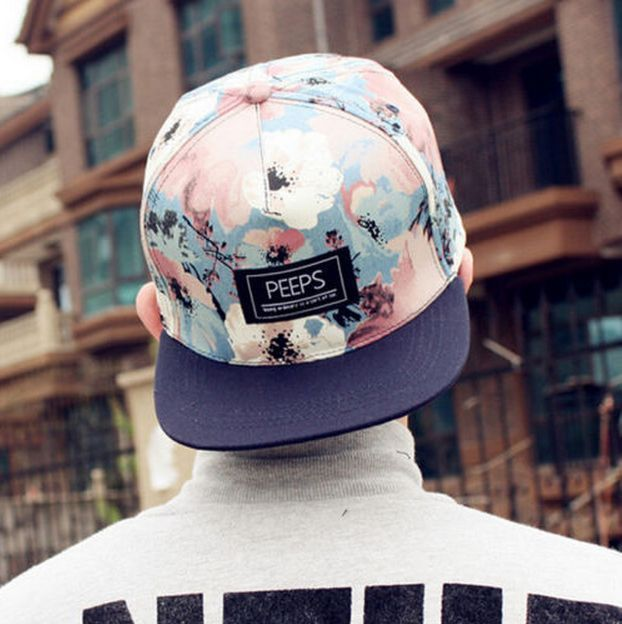 e74edabda1f Fashion Men s Women Floral Snapback Adjustable Baseball Cap Hip Hop Hat Cool