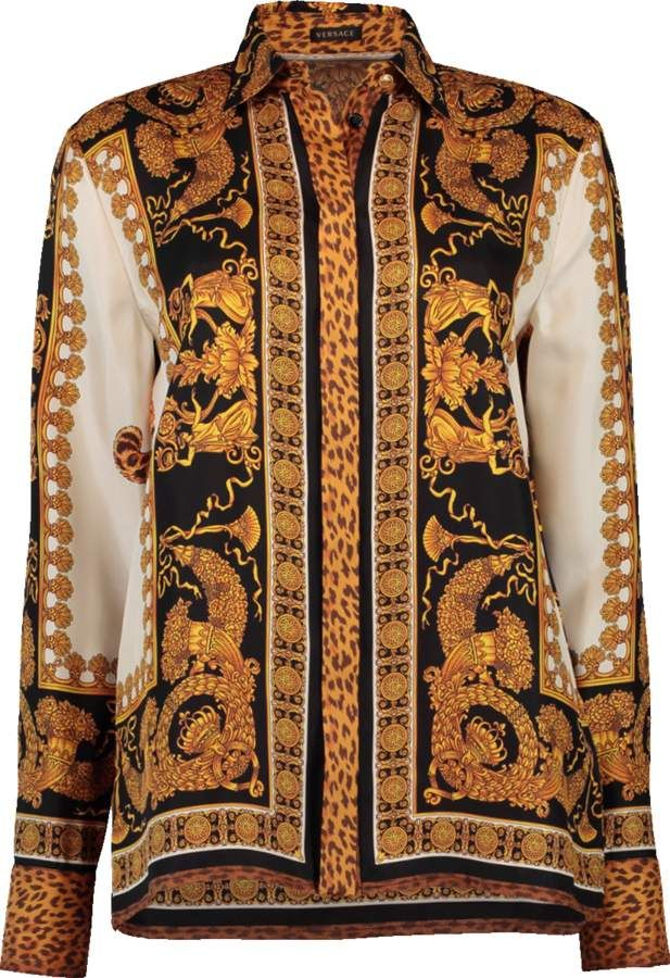 71c28dea VERSACE Leopard Printed Button Up Shirt #fashion {affiliate link ...