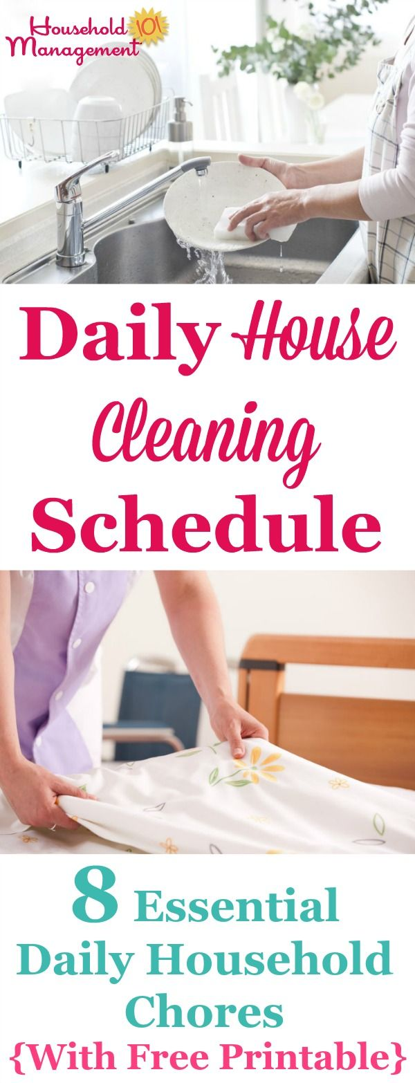 house cleaning schedule daily house cleaning schedule 8 essential daily household 12711
