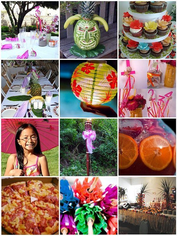 Idea Board For A Hawaiian Luau Wedding Luau Pinterest Receptions Wed