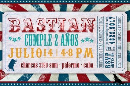 invitación de cumpleaños de Bastián! // circus invitation