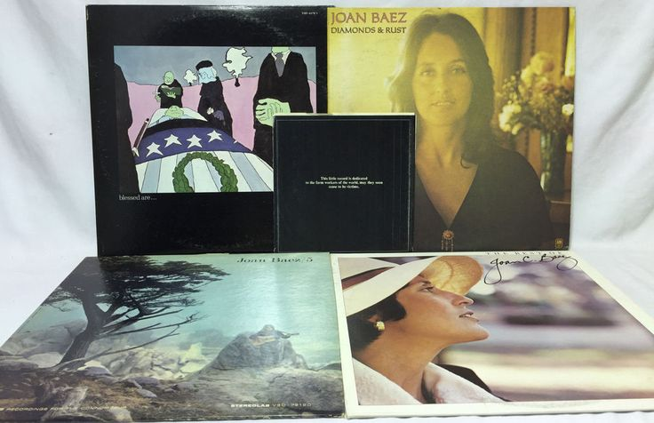 """Joan Beaz Lot of 4 Vinyl Record Albums - Blessed Are Best Of 5 Diamonds Rust +7"""""""