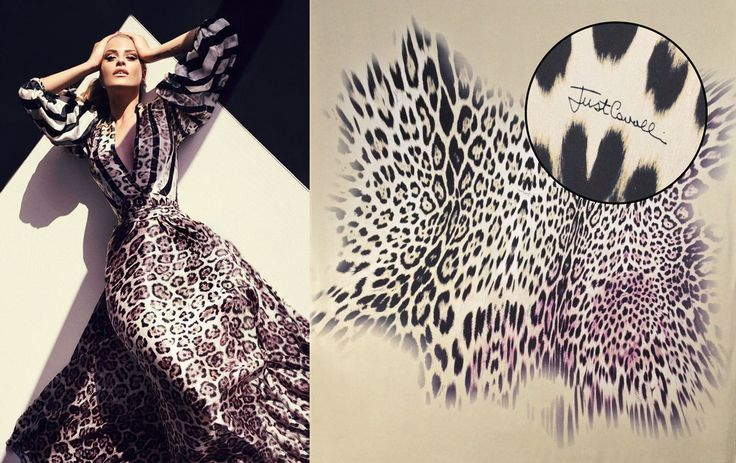 This gorgeous printed satin silk signed JUST CAVALLI is the perfect fabric choice for a dress like the one in this image. available now here: https://www.malagoli.ro/en/product/mr-40-2 #MalagoliFabrics #Fabrics #Silk #SatinSilk #PrintedSilk