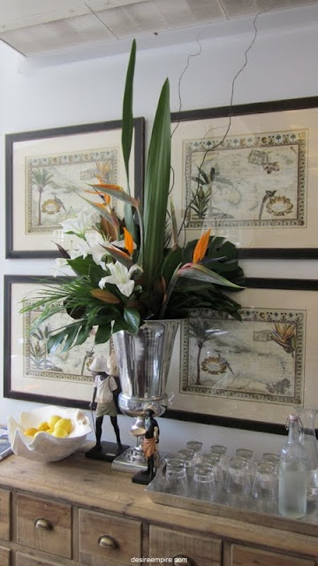 Tropical-chic Design...stunning vignette