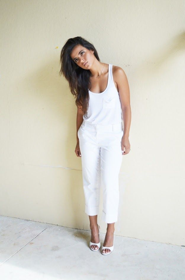 The Chicest Ambry: WHITE OUT // Casual Work Attire