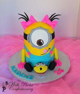 Girls Minion birthday cake | by Willi Probst Bakery