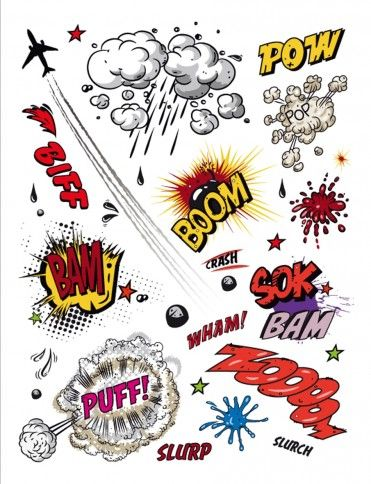 art expression | Comics - Expressions, Puff, Boom, Bam - Stickers - buy posters online ...