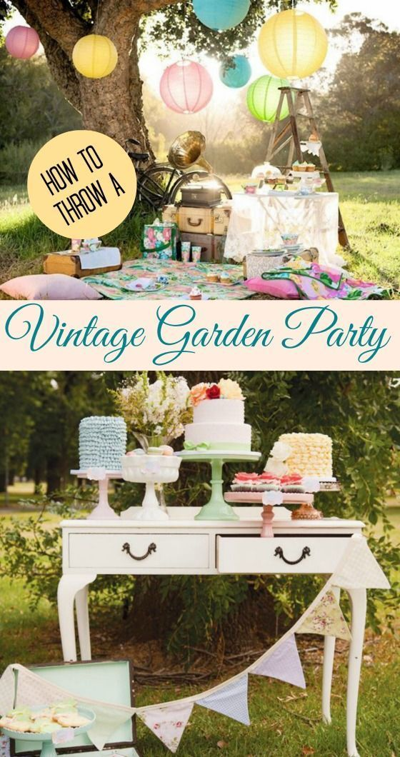 Are you hosting a bridal or baby shower this summer? Why not go with a vintage garden party? Click through for some lovely inspiration!