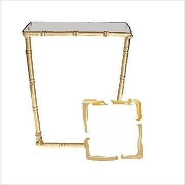 White Bamboo Wastebasket and Tissue Box - transitional - Waste Baskets - New York - MadisonAveGifts.com