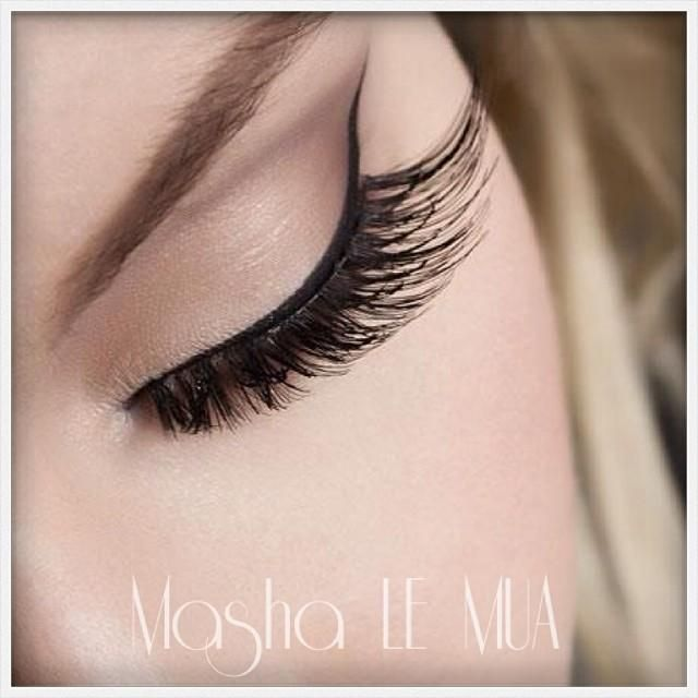 "Masha L.E Makeup Artist using ""Art of Attraction"" lashes in her latest look."