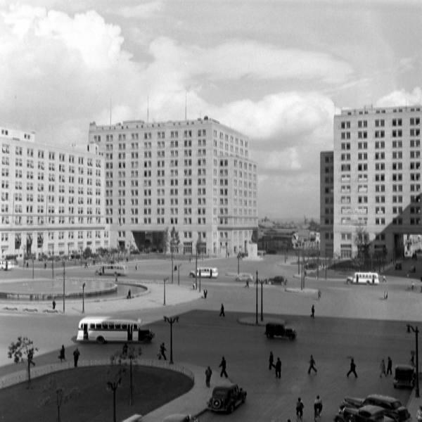 Barrio cívico, Santiago de Chile, 1941