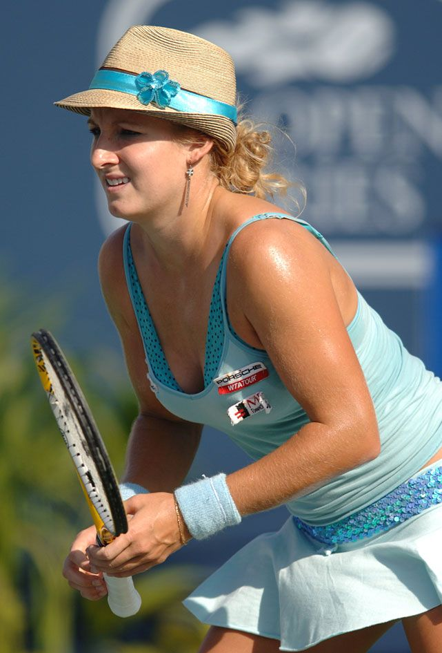 Mattek wore a hat a during the women's doubles final at the 2005 JP Morgan Chase Open in Carson, Calif. Later this summer, she'd be fined for wearing a similar striped cowboy hat at the U.S. Open.