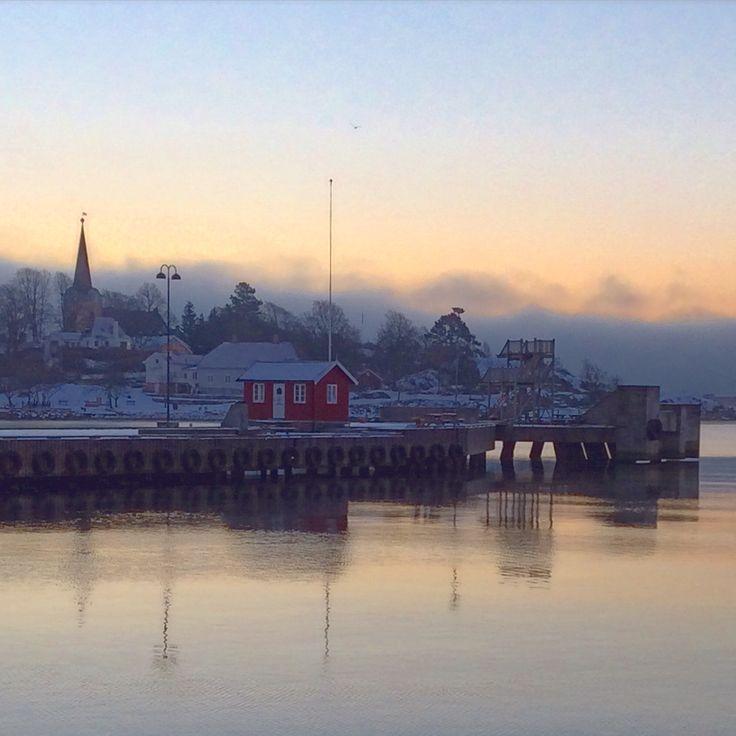 Larvik city in Norway.