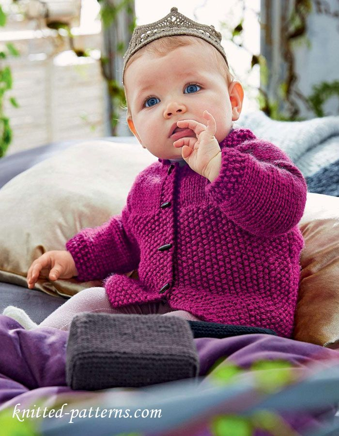 girls cardigan free knitting pattern knit in one piece from bottom up - Child Pictures Free