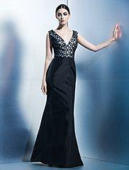 Vestido+-+Negro+Trompeta/Sirena+Hasta+el+Suelo+...+–+EUR+€+97.99