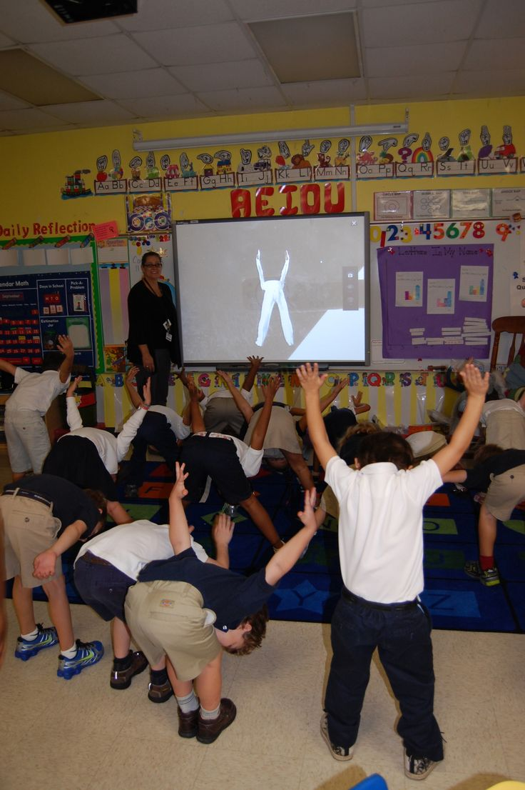 Check out DanceWriter App....Dancer shows students how to form the letters of the alphabet  using their bodies.  Great for Gross Motor Activity