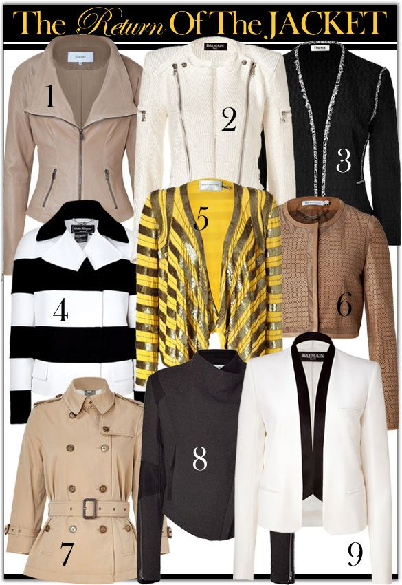 The Return of the Jacket, love jackets!Jackets Obsession, Fashion, Style, Jackets Jackets, Fun Jackets, Jackets Lov, Man Jackets, Jackets I, Returns