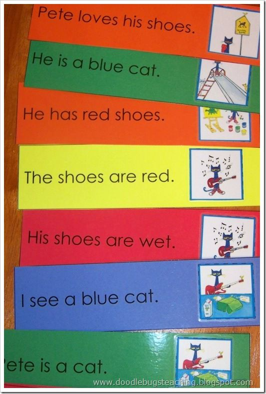 Pete the Cat printables: Cat Printable, Cat Ideas, Sentences Strips, Simple Sentences, Cat Love, Favorite Book, Pete The Cats, Cat Stuff, First Grade