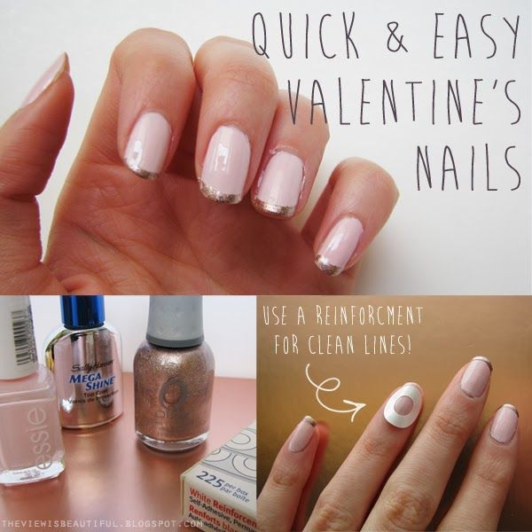 Work Appropriate Valentine's Nails