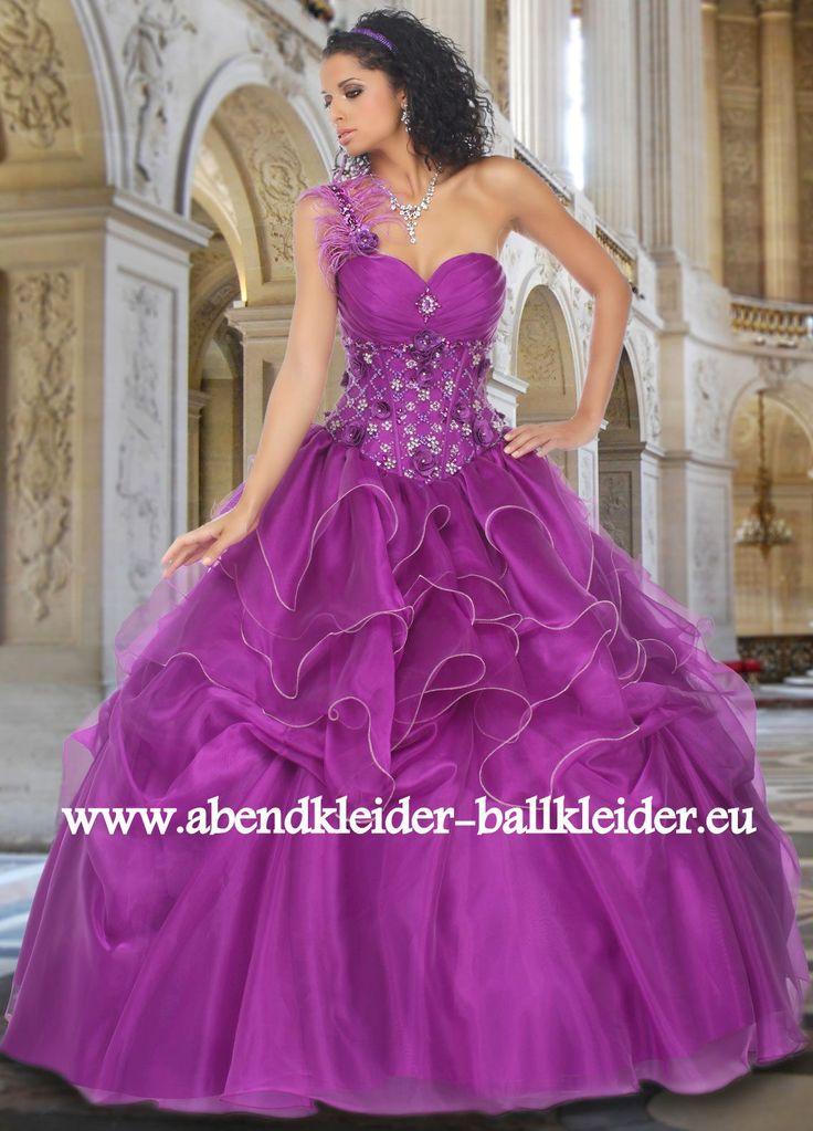 One Shoulder Abendkleid Ballkleid in Lila Online