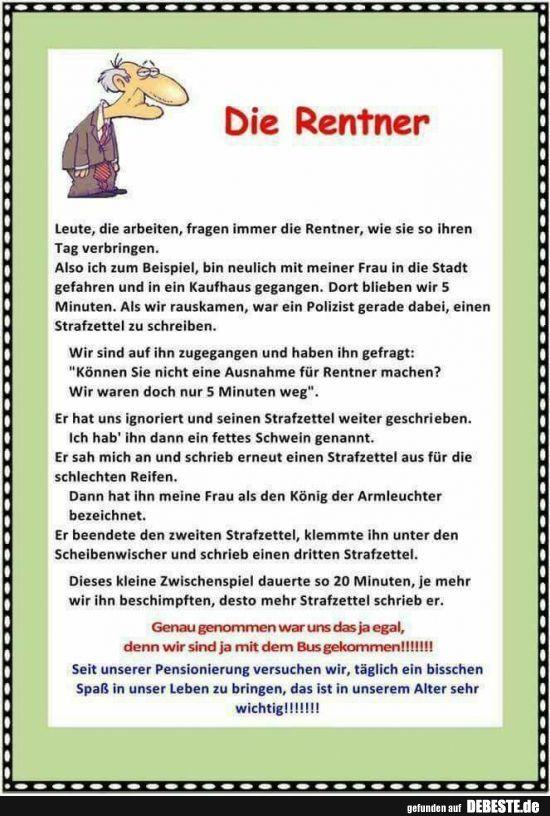 Die Rentner. – Johanna Holtzmann