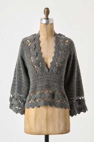 Outstanding Crochet. Orenburg Pullover from Antropology.