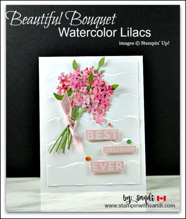 Beautiful Bouquet Watercolor Lilacs created by Sandi @ stampinwithsandi.com
